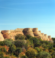 wall of kumbhalgarh fort