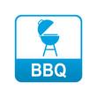 Etiqueta tipo app azul BBQ