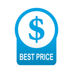 Etiqueta redonda azul BEST PRICE