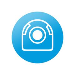 Etiqueta redonda webcam