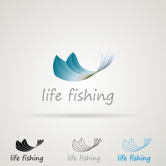 Abstract illustrations for fishing