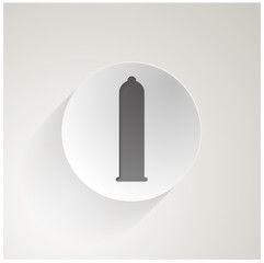 Flat icon for condom