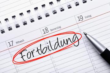 Kalendereintrag Fortbildung