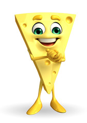 Cheese Character is happy