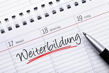 Kalendereintrag Weiterbildung