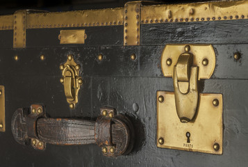 Old trunk lock and latches