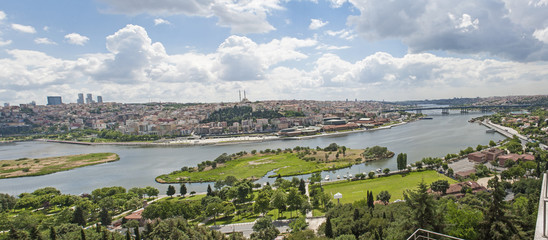 Aerial view over Istanbul Turkey