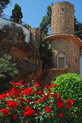 Mijas, torre de piedra, Málaga, Andalucía