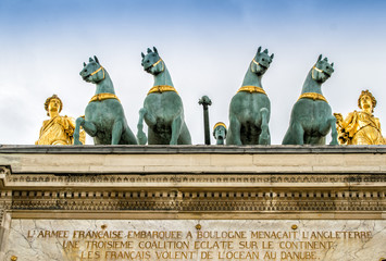 Quadriga on the Arc de Triomphe du Carrousel,Paris