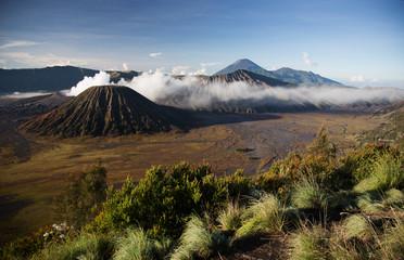 Bromo, an active volcano in west Java island, Indonesia