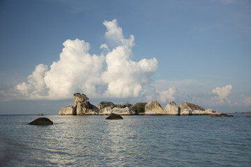 Beautiful tropical landscape, island rocks, sea