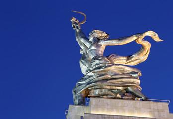 Famous soviet monument Rabochiy i Kolkhoznitsa, Moscow, Russia