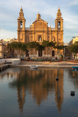 The Saint Joseph Parish Church of Msida in Malta near Valletta