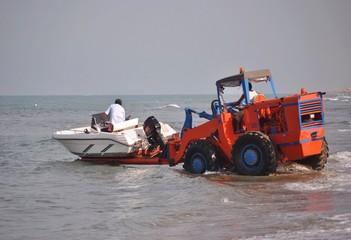 Messa in acqua di un motoscafo