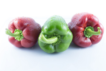 reds and green peppers