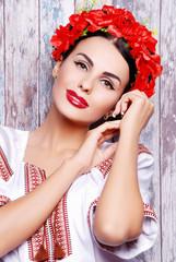 девушка, украинка