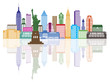 New York City Skyline Color Vector Illustration