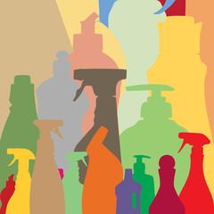 household bottles silhouettes
