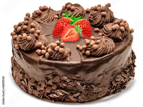 Fotobehang Bakkerij Chocolate cake