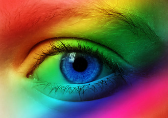 eye and colors