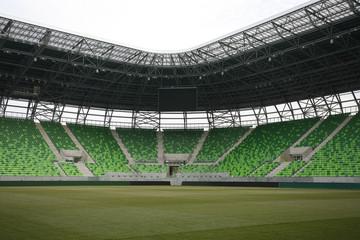 Ferencvaros stadium with grandstand