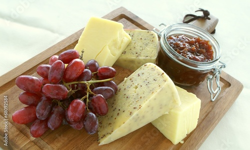 Staande foto Zuivelproducten cheese selection platter