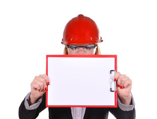 engineer holding clipboard