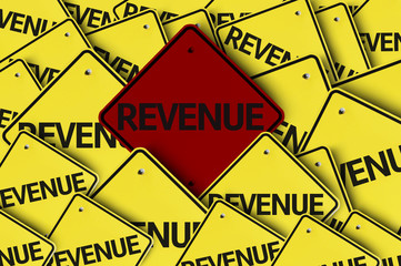 Revenue written on multiple road sign