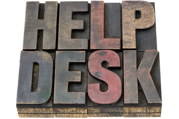 help desk in wood type