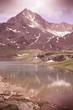 Italian Alps - Stelvio National Park. Cross processing color ton