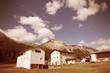 Switzerland - Graubunden region. Val Mustair. Cross processing c