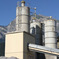 Cement factory in Switzerland