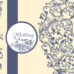 Wedding  pattern with flowers