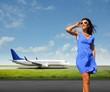 Airplane traveller