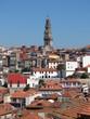 Portugal - Porto - Vue sur la Tour des Clercs