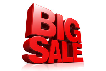 3D red text big sale