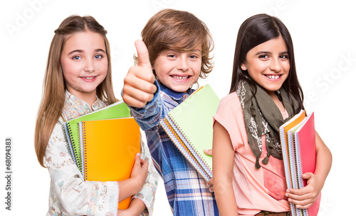 Group of little students - 68094383