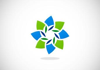 abstract circle shape logo