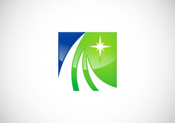 business finance logo star vector