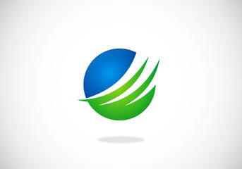 sphere round finance vector logo