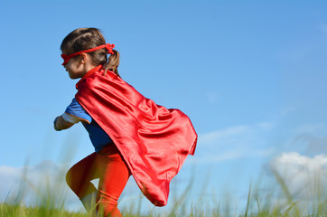 Superhero child - girl power