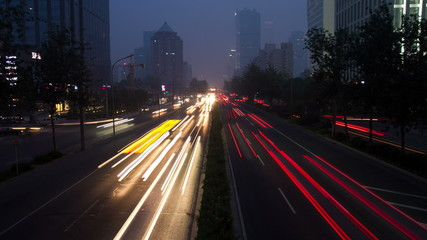 Timelapse view of Beijing 2nd ring road