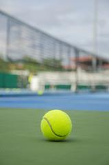 Tennis ball in court