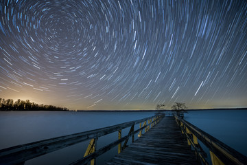 Spinning Stars over Reelfoot Lake