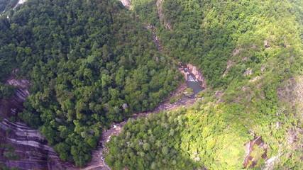 Aerial video footage Smokey Mountains TN