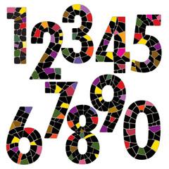 Creative brick number alphabet font style