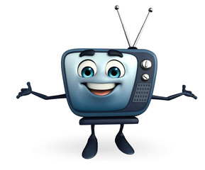 TV character with happy pose