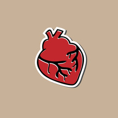 Heart sticker drawing cartoon