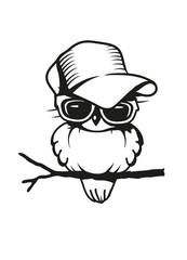 cooler Vogel auf dem Ast