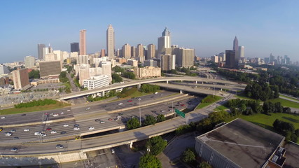 Aerial video Atlanta Georgia